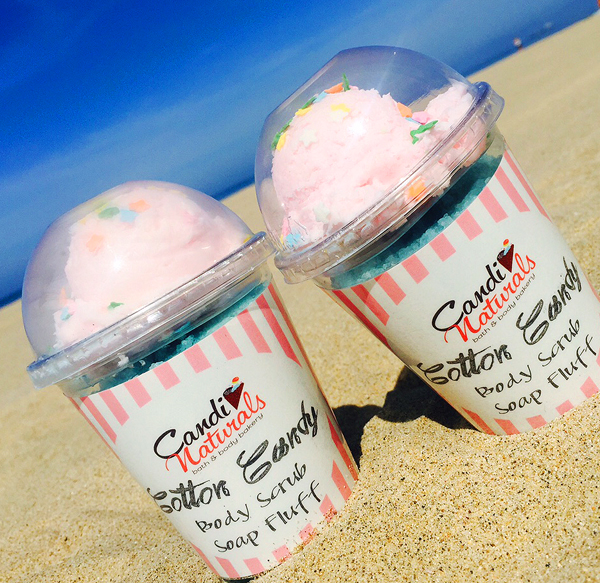 Cotton Candy Body Scrub Soap Fluff Sundae w/Spoon